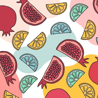 Summer fruity pattern style