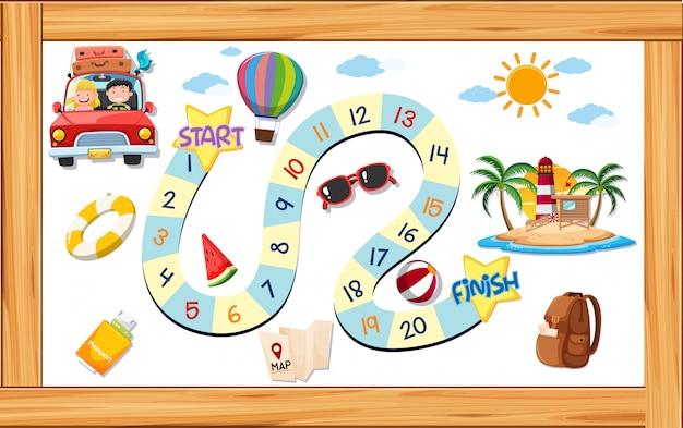 A summer game template