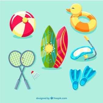Collezione di giochi estivi