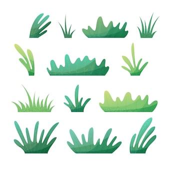Summer grass flat illustration