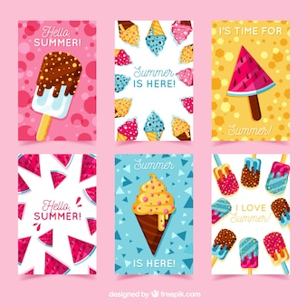 Summer greeting card collection