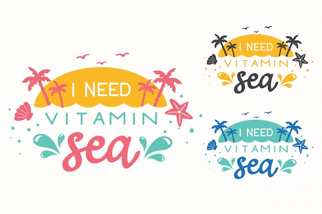 Summer hand drawn lettering