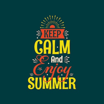 Summer hand drawnenjoy summer quote free and vector