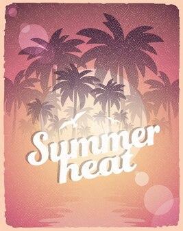 Летняя жара плакат
