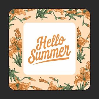Summer hello flower nature pattern