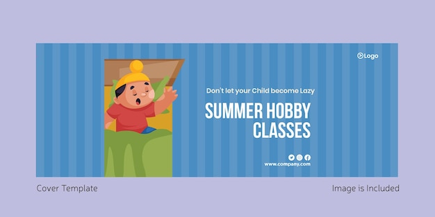 Summer hobby classes cover page design