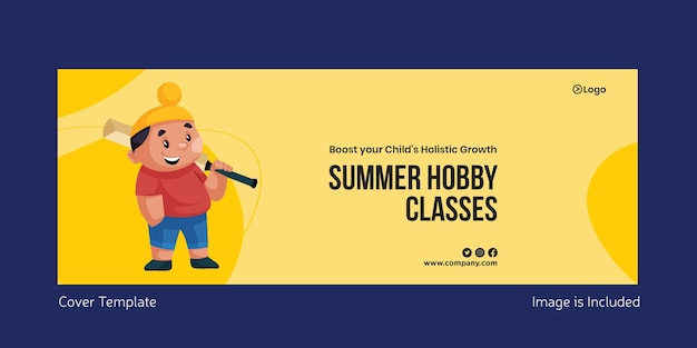 Summer hobby classes cover page template