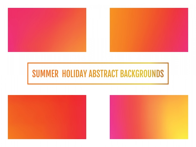 Summer holiday abstract background set of festive glowing