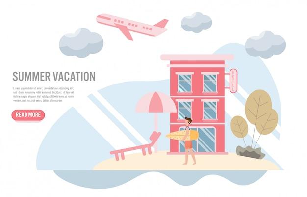 夏休みと旅行のコンセプト