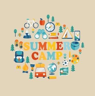 夏休みと旅行テーマ。