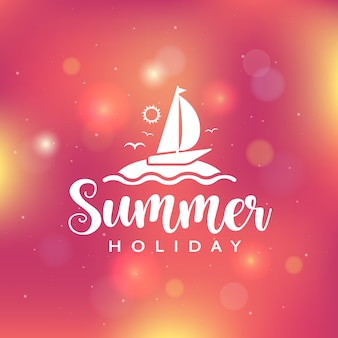 Summer holiday background with bokeh lights