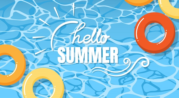 Summer holiday banner design.