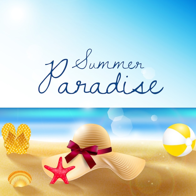 Summer holiday banner