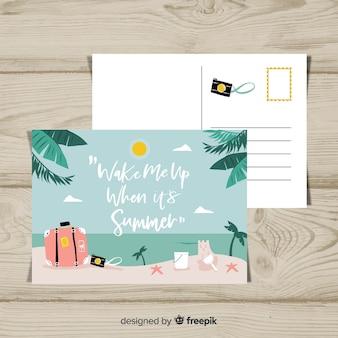 Summer holiday beach postcard