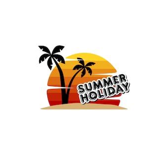 Summer holiday beach vacation vector art