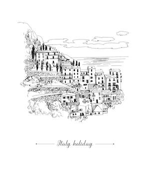 Summer holiday card illustration