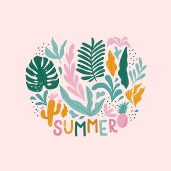 Summer holiday cards. hand drawn