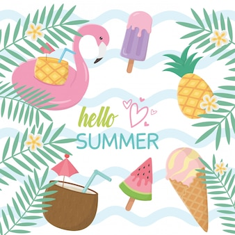 Summer holiday elements