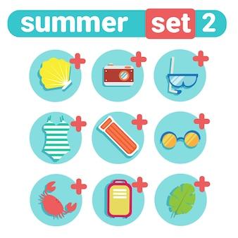 Summer Holiday Icon Set