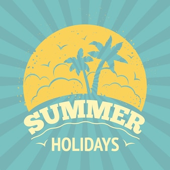 Summer holiday lettering design