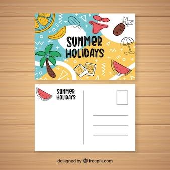 여름 휴가 엽서