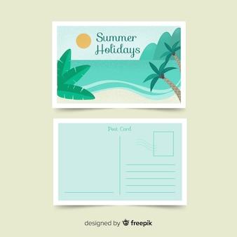 Summer holiday postcard