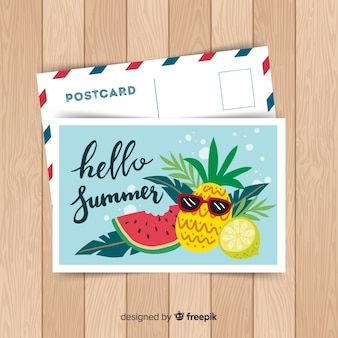 Summer holiday postcard
