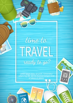 夏休み、休暇の準備、旅行、旅行。