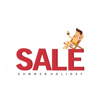 In summer holiday, summer background for sales