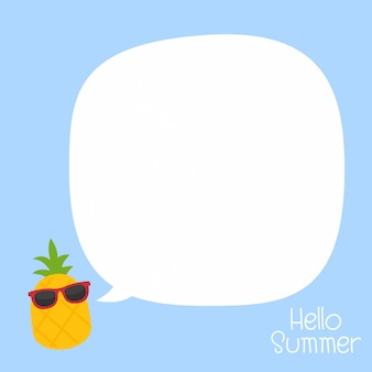 In summer holiday, summer on pineapple background