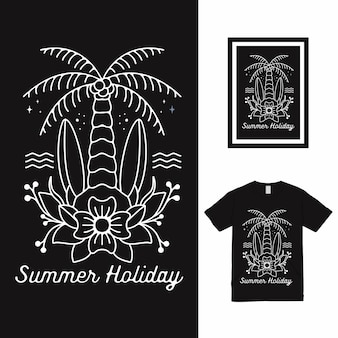 Дизайн футболки летних каникул