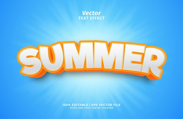 Summer holiday text effect style