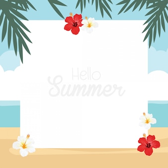 In summer holiday, tropical nature design card