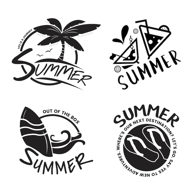 Summer and holiday typography illustration