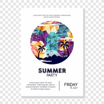 Summer holiday vacation theme vector art