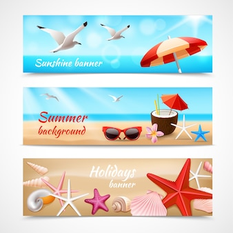 Summer holidays banner