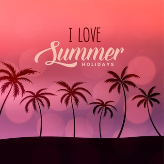 Summer holidays beach scene background
