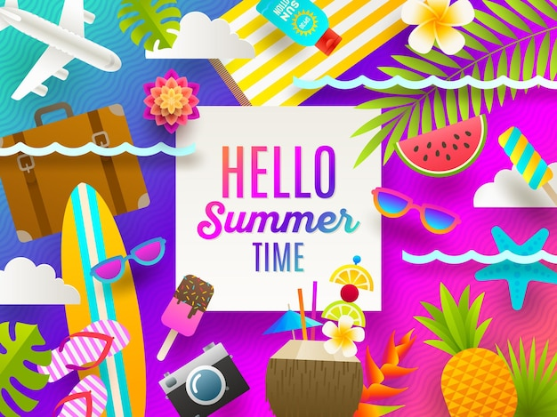 Summer holidays and beach vacation background