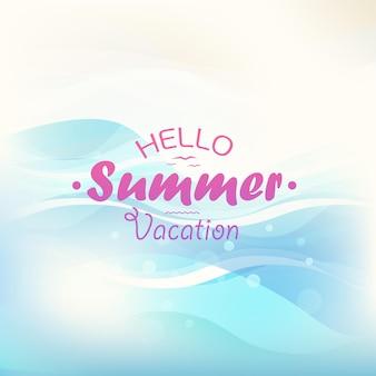 여름 휴가 개념입니다. 로고와 함께 벡터 일러스트 레이 션