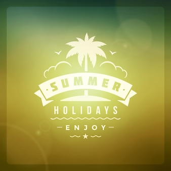 Summer holidays design