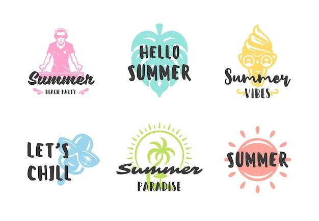 Набор вдохновляющих цитат летних каникул