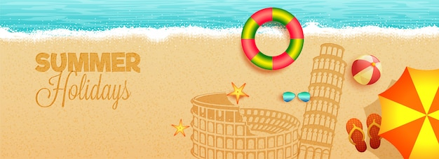 Summer holidays in italy concept