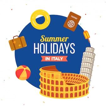 Summer holidays in italy
