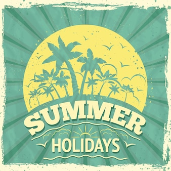 Summer holidays lettering design