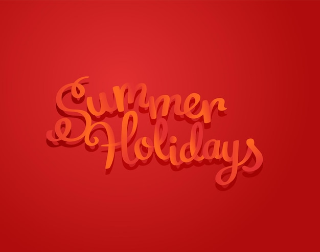 Summer holidays logo design. color logo vector illustration