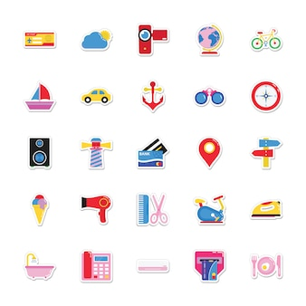 Summer and holidays stickers