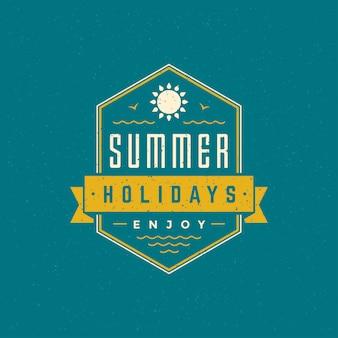 Summer holidays typographic badge
