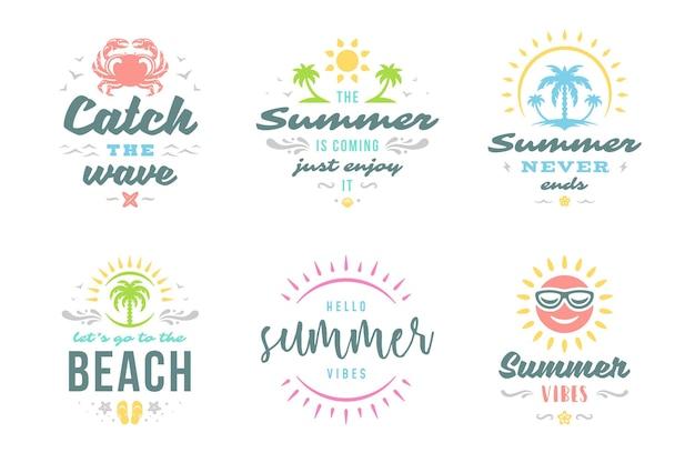 Летние каникулы типография вдохновляющие цитаты или дизайн поговорок