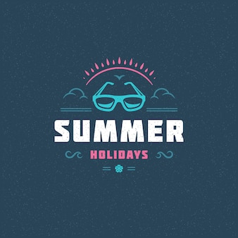 Summer holidays typography slogan