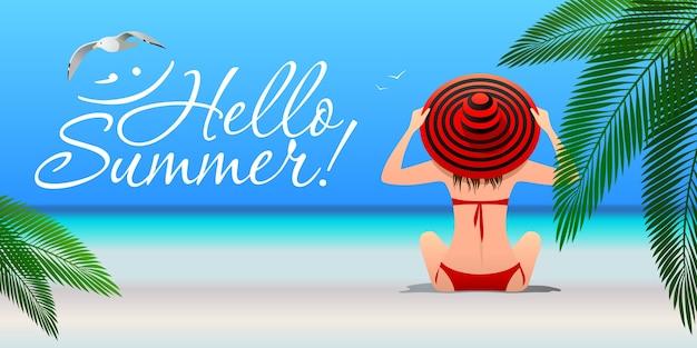 Summer holydays illustration.